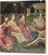 The Decameron Wood Print by John William Waterhouse