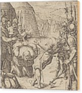 The Decapitated Wood Print