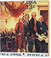 The Declaration Of Independence  Wood Print by Lanjee Chee