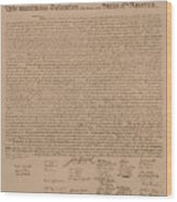 The Declaration Of Independence Wood Print by War Is Hell Store