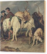 The Deerstalkers Return Wood Print by Sir Edwin Landseer