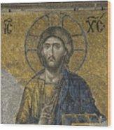 The Dees Mosaic In Hagia Sophia Wood Print