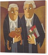 The Defendant Wood Print
