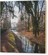The Delaware Canal In New Hope Pa Wood Print