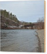 The Delaware River Wood Print
