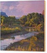 The Delores River At Gate Way Colorado Wood Print