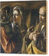 The Denial Of Saint Peter Wood Print