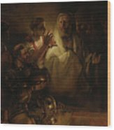 The Denial Of St Peter Wood Print