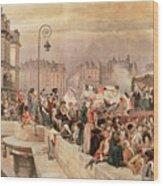 The Departure Of The Volunteers 1792 Wood Print