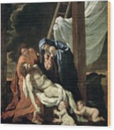The Deposition Wood Print by Nicolas Poussin