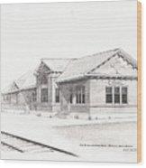 The Depot Mitchell South Dakota Wood Print