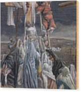 The Descent From The Cross Wood Print by Tissot
