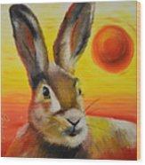 The Desert Hare Wood Print