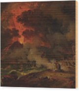 The Destruction Of Pompeii Wood Print