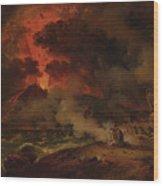 The Destruction Of Pompeii Wood Print