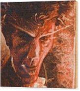 The Devil Waits Wood Print