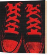 The Devil Wears Converse Wood Print