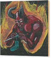 The Devil's Day Of Down Time Wood Print