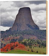 The Devils Tower Wy Wood Print