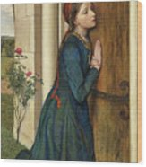The Devout Childhood Of Saint Elizabeth Of Hungary, 1852 Wood Print