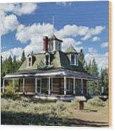 The Dexter Cabin Wood Print