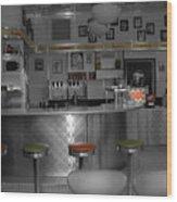 The Diner Wood Print