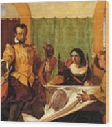 The Dinner Scene From Taming Of The Shrew Wood Print