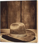 The Dirty Brown Hat Wood Print
