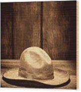 The Dirty Tan Hat Wood Print