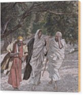 The Disciples On The Road To Emmaus Wood Print