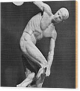 The Discobolus, 450.b.c Wood Print