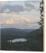 The Distant Hills Of Vermont Wood Print