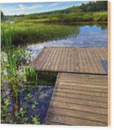 The Dock At Mountainman Wood Print