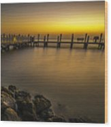 Captiva Sunrise Wood Print