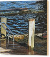 The Dock Wood Print