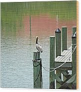 The Dock Wood Print