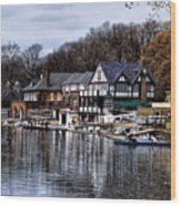The Docks At Boathouse Row - Philadelphia Wood Print