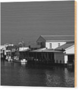 The Docks At Crisfield Md Wood Print