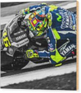 The Doctor At Assen Wood Print