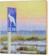 The Dog Park On Pensacola Beach Wood Print