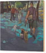 The Dog Walker Wood Print