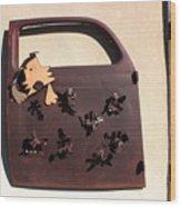 The Doggie Door Wood Print