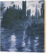 The Dolceacque Castle In Pencil Wood Print