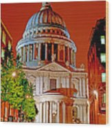 The Dome Of St Pauls Wood Print