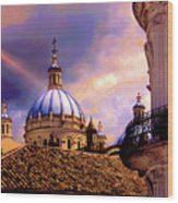 The Domes Of Immaculate Conception, Cuenca, Ecuador Wood Print