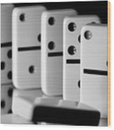 The Domino Effect Wood Print