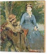 The Donkey Ride Wood Print