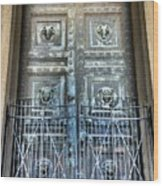 The Door At The Parthenon In Nashville Tennessee Wood Print