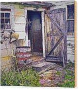 The Door Is Always Open Wood Print