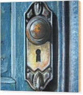 The Door Knob Wood Print